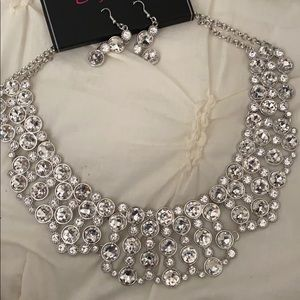 Signature series crystal collar necklace.